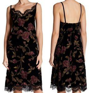 ⭐NWT⭐ Max Studio - Velvet Lace Trim Floral Dress